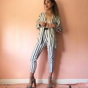 TopShop Pajama Striped Set